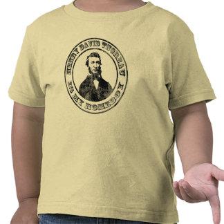 Henry David Thoreau (apenado), bebés o niños s Camisetas