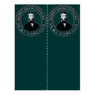 Henry David Thoreau apenado poste de la señal 2 Tarjeta Postal