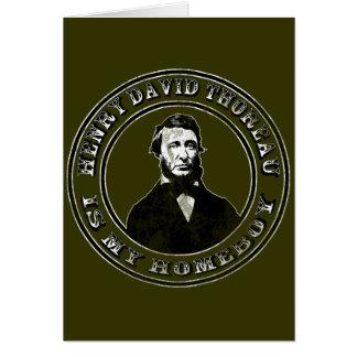 Henry David Thoreau apenado Tarjeton