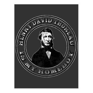 Henry David Thoreau apenado Tarjetas Postales