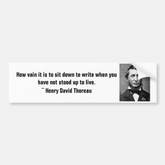 Henry David Thoreau bumper sticker