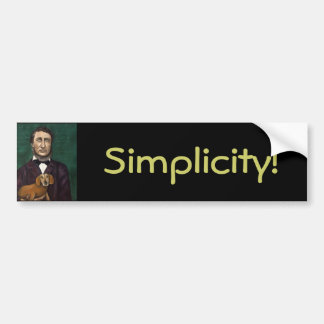 Henry David Thoreau Bumper Sticker