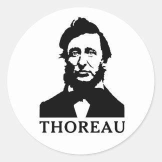 Henry David Thoreau Classic Round Sticker