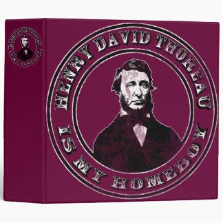 Henry David Thoreau (distressed) 3 Ring Binder