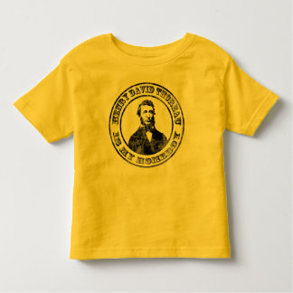 Henry David Thoreau (distressed), babies or kids s Toddler T-shirt