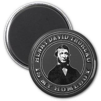 Henry David Thoreau (distressed), Refrigerator Magnets