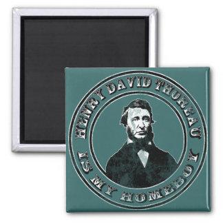 Henry David Thoreau (distressed), Magnet