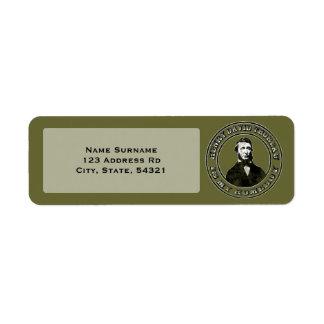 Henry David Thoreau (distressed), return address l Return Address Label