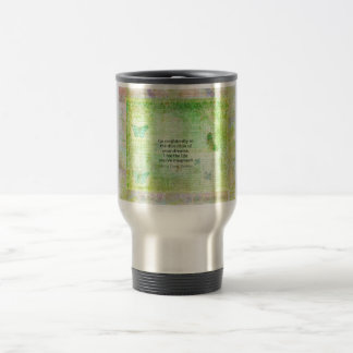 Henry David Thoreau Dream Quote with nature theme Travel Mug