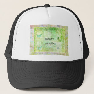 Henry David Thoreau Dream Quote with nature theme Trucker Hat