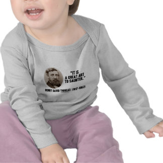 Henry David Thoreau es un gran arte a saunter Camiseta