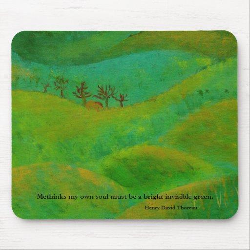 Henry David Thoreau es verde Mousepad
