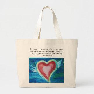 Henry David Thoreau Friendship Quote Large Tote Bag