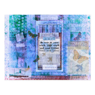 Henry David Thoreau FRIENDSHIP Quote Postcard