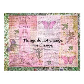 Henry David Thoreau inspirational CHANGE quote Postcard