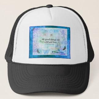 Henry David Thoreau Inspirational FREEDOM quote Trucker Hat