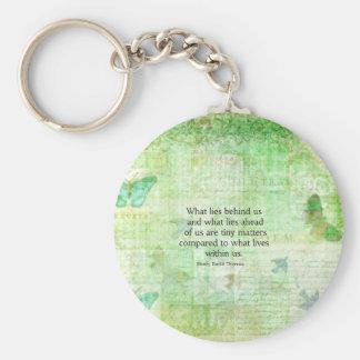 Henry David Thoreau Inspirational quote art Key Chain