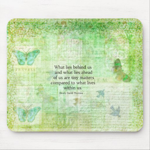Henry David Thoreau Inspirational quote art Mouse Pads