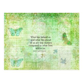 Henry David Thoreau Inspirational quote art Postcard