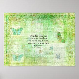 Henry David Thoreau Inspirational quote art Print