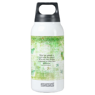 Henry David Thoreau Inspirational quote art 10 Oz Insulated SIGG Thermos Water Bottle