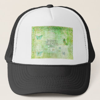 Henry David Thoreau Inspirational quote art Trucker Hat