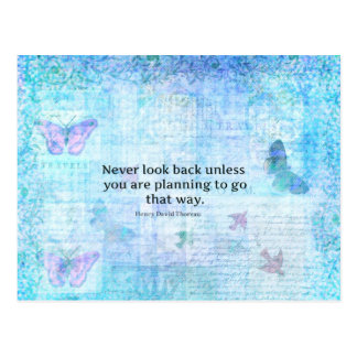 Henry David Thoreau Inspirational quote with art Postcard