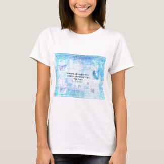 Henry David Thoreau Inspirational quote with art T-Shirt
