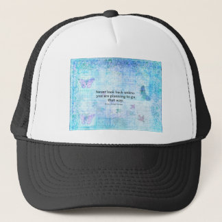 Henry David Thoreau Inspirational quote with art Trucker Hat