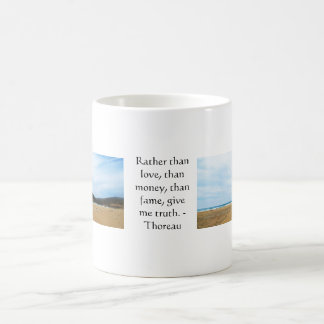 Henry David Thoreau inspirational TRUTH Quote Coffee Mug