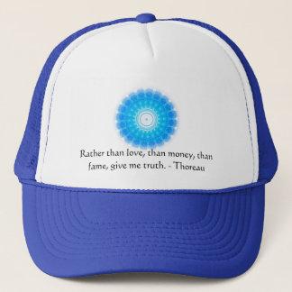 Henry David Thoreau inspirational TRUTH Quote Trucker Hat