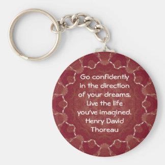 Henry David Thoreau Motivational Dream Quotation Keychains
