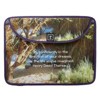 Henry David Thoreau Motivational Dream Quotation MacBook Pro Sleeve