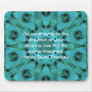 Henry David Thoreau Motivational Dream Quotation Mouse Pad
