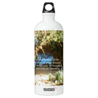 Henry David Thoreau Motivational Dream Quotation SIGG Traveler 1.0L Water Bottle