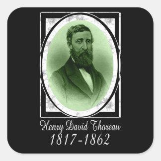 Henry David Thoreau Pegatina Cuadrada