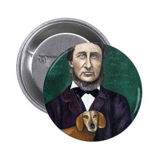 Henry David Thoreau Pinback Buttons