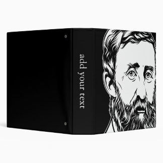 Henry David Thoreau portrait 3 Ring Binder
