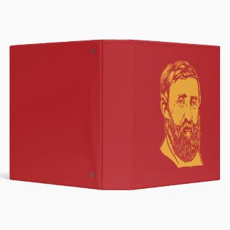 Henry David Thoreau portrait Binder