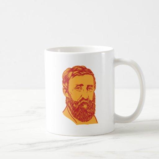 Henry David Thoreau portrait Classic White Coffee Mug
