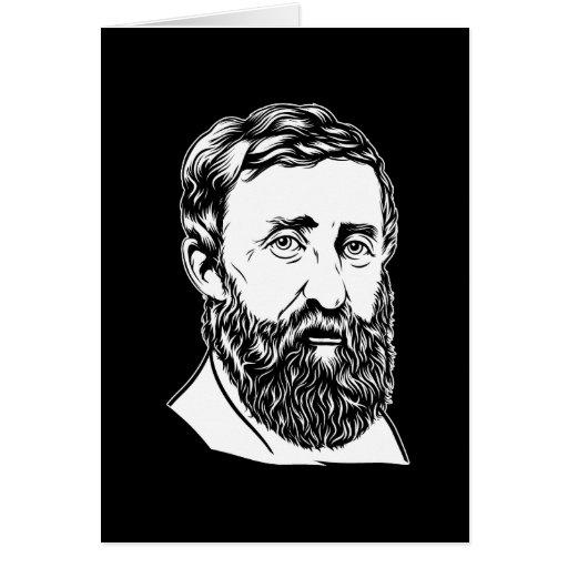 Henry David Thoreau portrait Greeting Card