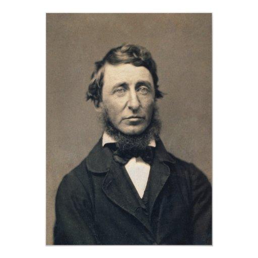 Henry David Thoreau Portrait Maxham daguerreotype Card
