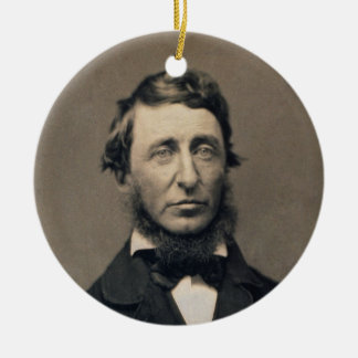 Henry David Thoreau Portrait Maxham daguerreotype Ceramic Ornament