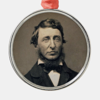 Henry David Thoreau Portrait Maxham daguerreotype Metal Ornament