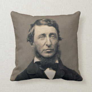 Henry David Thoreau Portrait Maxham daguerreotype Throw Pillow