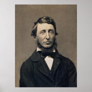 Henry David Thoreau Portrait Maxham daguerreotype Poster
