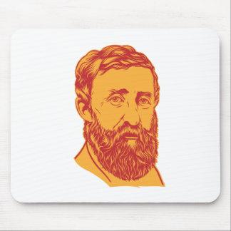 Henry David Thoreau portrait Mouse Pad