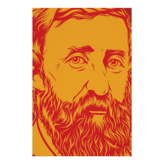 Henry David Thoreau portrait Poster