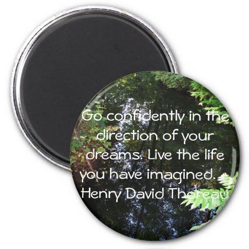 Henry David Thoreau QUOTATION 2 Inch Round Magnet