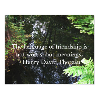Henry David Thoreau quotation about FRIENDSHIP Personalized Invitations